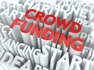 Crowd Funding. Wordcloud Concept.